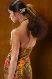 Woman in ethnic dress stock photography