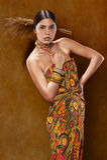Woman in ethnic dress stock photo