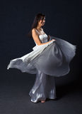 Woman in evening dress. Royalty Free Stock Images