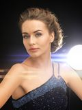 Woman in evening dress Stock Image
