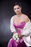 Woman in evening dress Royalty Free Stock Photo