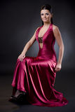 Woman in evening dress Stock Images