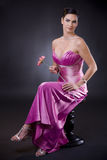 Woman in evening dress Stock Photos