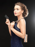 Woman in evening dress Royalty Free Stock Images