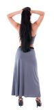Woman in evening dress view from back Stock Image