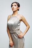 Woman in evening dress Royalty Free Stock Image