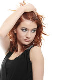 Woman in evening gown Stock Photography