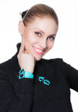Woman with evening make-up. Beautiful woman with evening make-up Royalty Free Stock Image