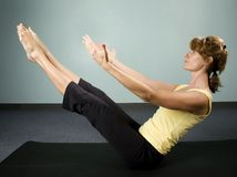 Woman Excercising Stock Image