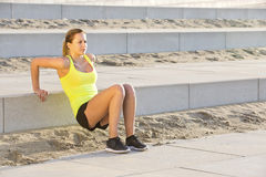 Woman excersising Royalty Free Stock Photography
