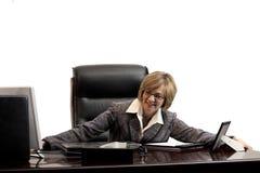 Woman executive- acheiving a new position Stock Photo