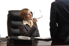 Woman Executive in team meeting Stock Image