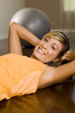 Woman exercise Stock Images
