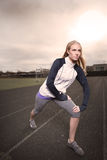 Woman exercise Stock Image