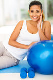 Woman after exercise Royalty Free Stock Photos
