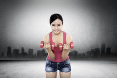 Woman Exercise With Dumbell Royalty Free Stock Photos