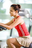 Woman exercise at gym Royalty Free Stock Image