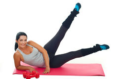 Woman exercise with legs up Royalty Free Stock Photography