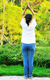 Woman exercise outdoor Stock Photography