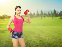 Woman Exercise Outdoor Royalty Free Stock Photo