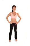 Woman in exercise outfit. Royalty Free Stock Image