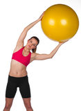 Woman exercise with pilates ball Royalty Free Stock Photo