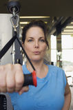 Woman With Exercise Stretch Band Royalty Free Stock Photos