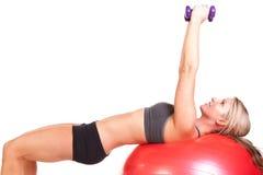 Woman exercising Stock Photos
