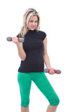 Woman exercising Stock Image