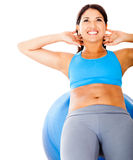 Woman exercising abs Royalty Free Stock Image