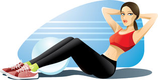 Woman Exercising Abs Royalty Free Stock Photo