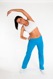 Woman exercising aerobics Royalty Free Stock Images