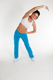 Woman exercising aerobics Royalty Free Stock Photo