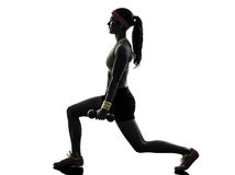 Woman exercising fitness workout  weight training Royalty Free Stock Photo