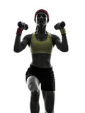 Woman exercising fitness workout  weight training Royalty Free Stock Images