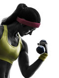 Woman exercising fitness workout weight training s royalty free stock images