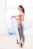 Woman exercising. Royalty Free Stock Photo