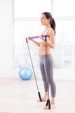 Woman exercising. royalty free stock photo