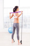 Woman exercising. Stock Photo