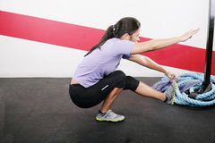 Woman Exercising on gym Stock Photography