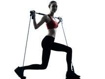 Woman Exercising Gymstick Stock Photo