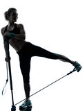 Woman exercising gymstick fitness workout Stock Images