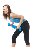 Woman exercising, isolated Stock Images