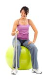 Woman exercising isolated Stock Photos