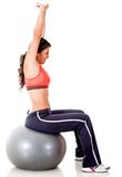 Woman exercising - isolated Royalty Free Stock Photos