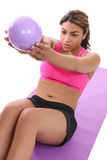Woman Exercising on Mat Royalty Free Stock Images