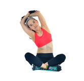 Woman exercising Stock Images