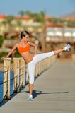 Woman exercising outdoor in summer Stock Photography