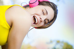Woman exercising outdoors Stock Image