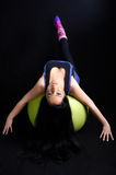 Woman Exercising on Pilates Ball Royalty Free Stock Photography